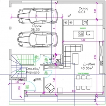 къщи тип 3 и 4 етаж 1, гараж, склад, дневна, Бриз, Варна