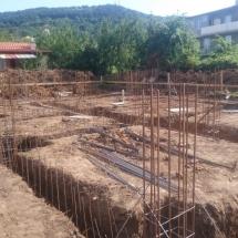 Бриз, Варна, Къщи тип 1 и 2 арматура фундамент