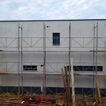 Фасада север, Баумит шпакловка, ПВЦ с алуминиева капачка