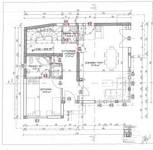 първи етаж, дневан, спалня, баня и тоалетна