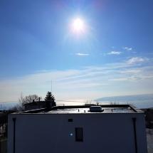 Зимен изглед от покривна тераса на Къща 2